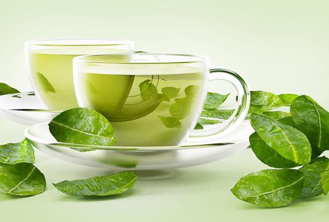 trà xanh hỗ trợ giải độc gan