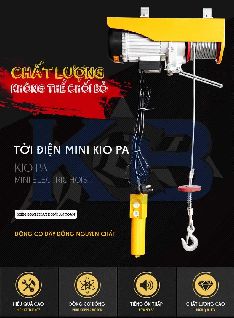 Tời điện mini KIO PA500